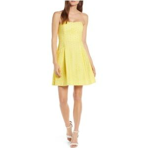 Lilly Pulitzer Blossom Fit & Flare Yellow Dress